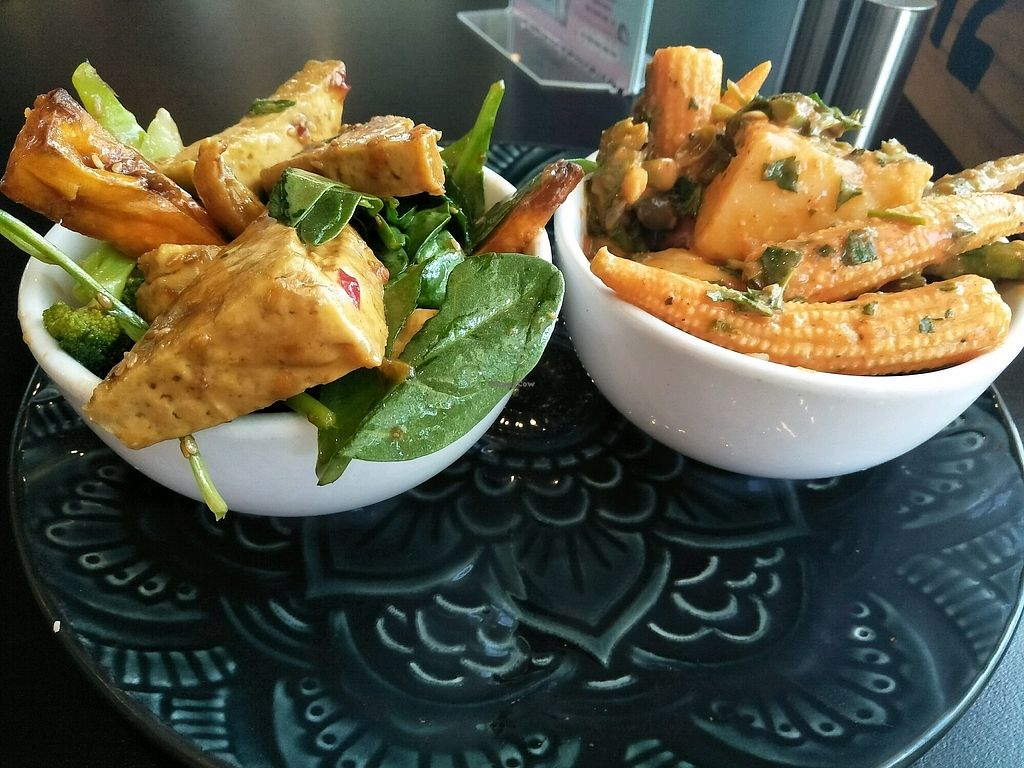 "Photo of The Cardamom Pod - Broadbeach  by <a href=""/members/profile/Cynthia1998"">Cynthia1998</a> <br/>the tofu salad on the left and potato salad on the righg <br/> March 10, 2018  - <a href='/contact/abuse/image/86782/368784'>Report</a>"