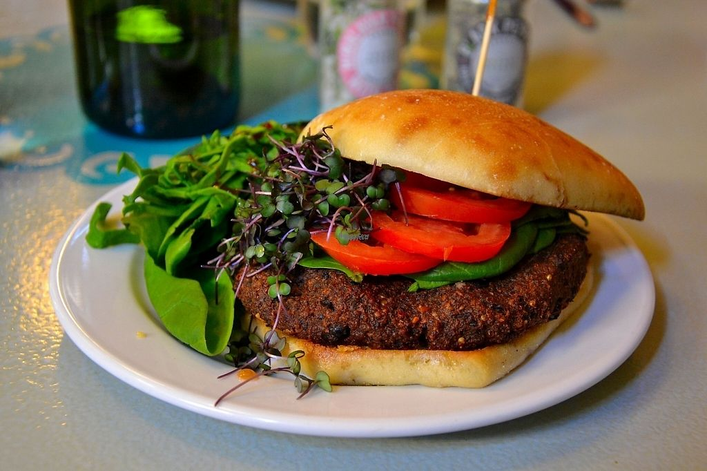 """Photo of Morning Day Cafe  by <a href=""""/members/profile/ALR14"""">ALR14</a> <br/>Veggie burger with micro greens <br/> February 8, 2017  - <a href='/contact/abuse/image/86793/224088'>Report</a>"""