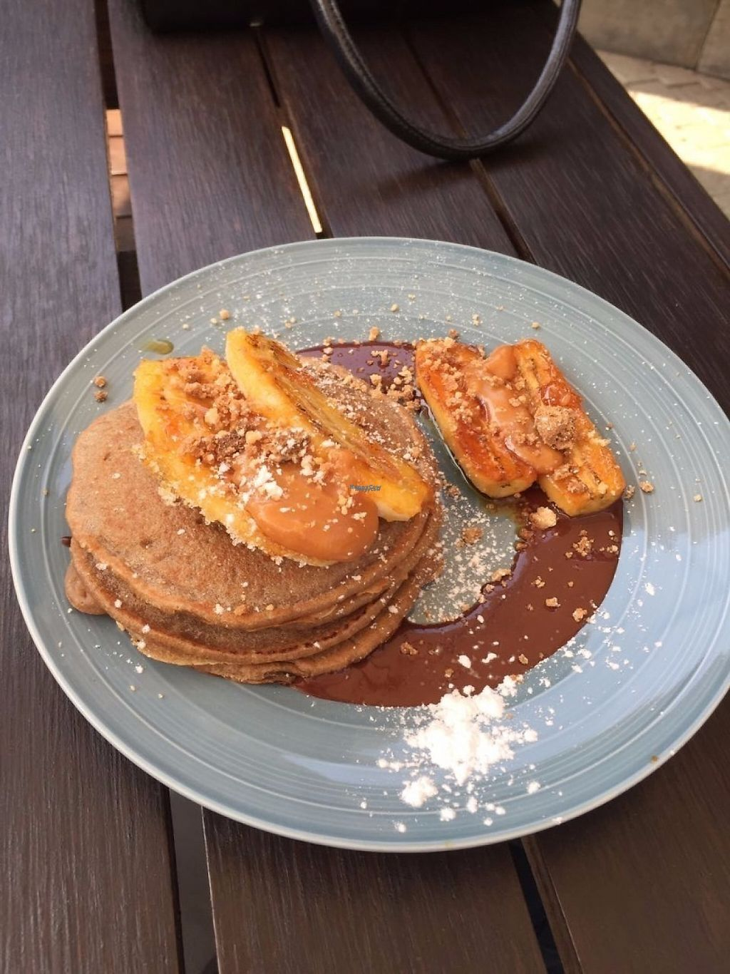 """Photo of Cafe Kumbuk Good Market  by <a href=""""/members/profile/CatDouglas"""">CatDouglas</a> <br/>Burnt caramel pancakes - Vegan <br/> February 28, 2017  - <a href='/contact/abuse/image/86812/231171'>Report</a>"""