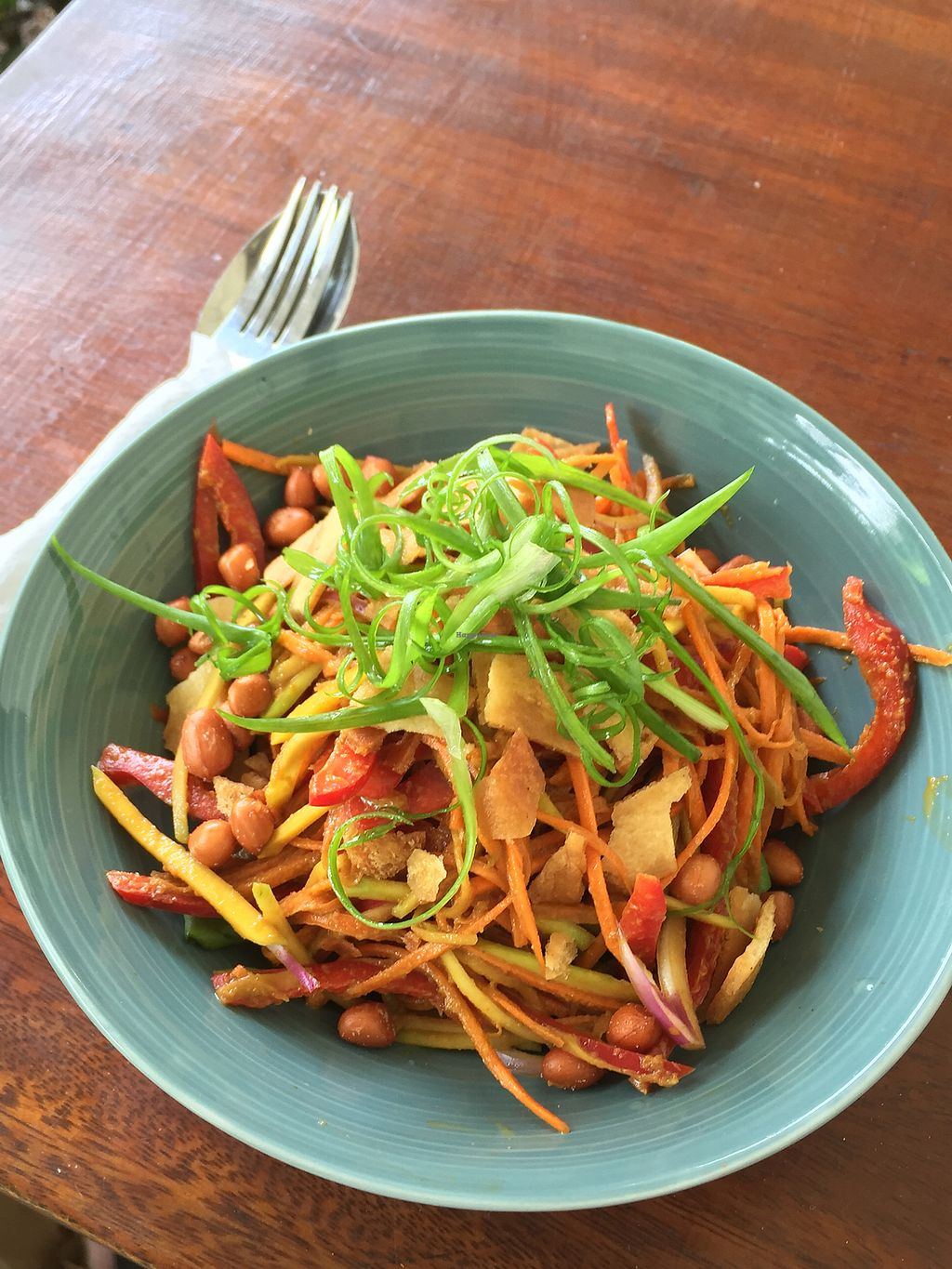"""Photo of Cafe Kumbuk Good Market  by <a href=""""/members/profile/peterstuckings"""">peterstuckings</a> <br/>Thai salad - vegan <br/> March 14, 2018  - <a href='/contact/abuse/image/86812/370429'>Report</a>"""