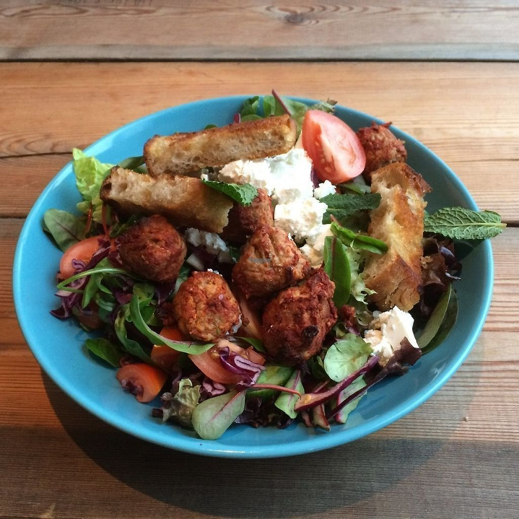 """Photo of Lykkelige Dager  by <a href=""""/members/profile/SigeAmdal"""">SigeAmdal</a> <br/>Quorn Fatous with Mint Vinaigrette <br/> February 12, 2017  - <a href='/contact/abuse/image/86814/225765'>Report</a>"""