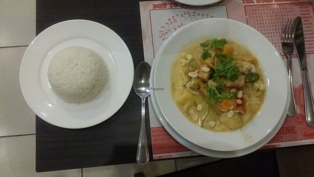 """Photo of Wild Herbs Restaurant  by <a href=""""/members/profile/Mike%20Munsie"""">Mike Munsie</a> <br/>vegan massaman curry with rice <br/> February 11, 2017  - <a href='/contact/abuse/image/86824/225103'>Report</a>"""