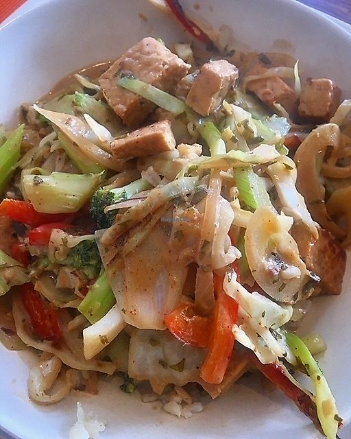 """Photo of Good Choice Kitchen  by <a href=""""/members/profile/LilMsVegan"""">LilMsVegan</a> <br/>Tempeh and Stir Fry Veggies in Almond Sauce <br/> November 9, 2017  - <a href='/contact/abuse/image/86832/323430'>Report</a>"""