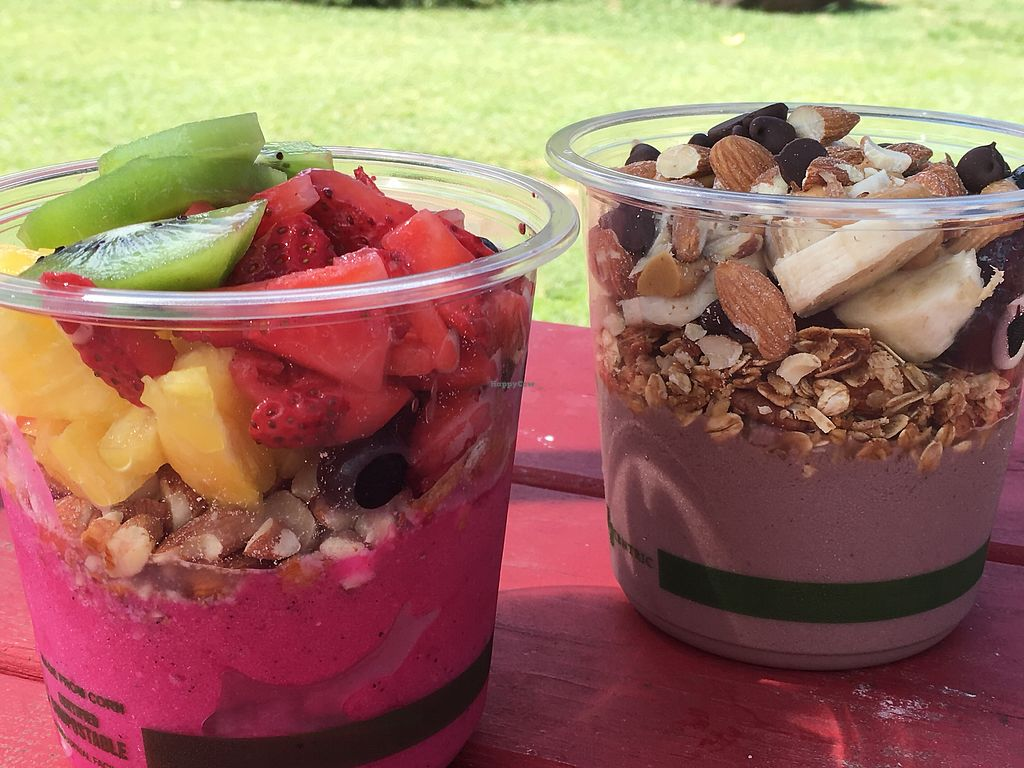 """Photo of Little Fish Coffee  by <a href=""""/members/profile/Dr.G"""">Dr.G</a> <br/>Pitaya Bowl and Pakala Bowl <br/> June 28, 2017  - <a href='/contact/abuse/image/86841/274538'>Report</a>"""