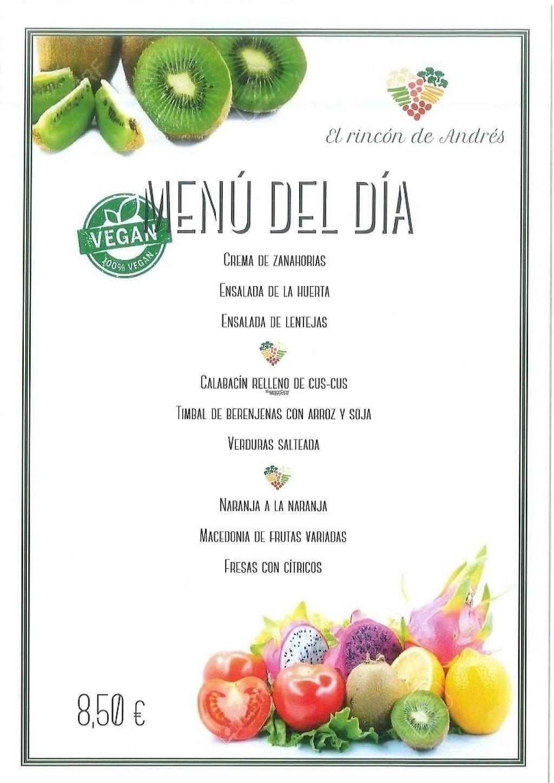 "Photo of El Rincon de Andres  by <a href=""/members/profile/Carmela79"">Carmela79</a> <br/>menu vegan <br/> March 15, 2017  - <a href='/contact/abuse/image/86851/236805'>Report</a>"