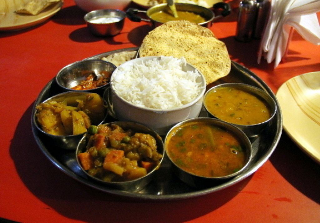 "Photo of Shree Ganesh Pure Vegetarian  by <a href=""/members/profile/reissausta%20ja%20ruokaa"">reissausta ja ruokaa</a> <br/>South Indian thali.  <br/> March 25, 2017  - <a href='/contact/abuse/image/86861/240817'>Report</a>"