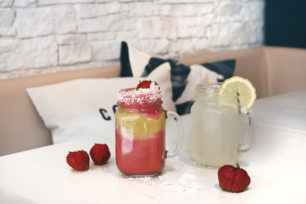 """Photo of Reflection Bar & Bistro  by <a href=""""/members/profile/swxx"""">swxx</a> <br/>vegan smoothies and lemonades <br/> July 6, 2017  - <a href='/contact/abuse/image/86866/277211'>Report</a>"""