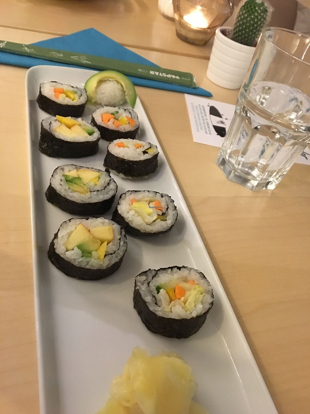 """Photo of Reflection Bar & Bistro  by <a href=""""/members/profile/NakedVegan"""">NakedVegan</a> <br/>Who knew apples & mangos would make great Sushi! <br/> January 8, 2018  - <a href='/contact/abuse/image/86866/344514'>Report</a>"""