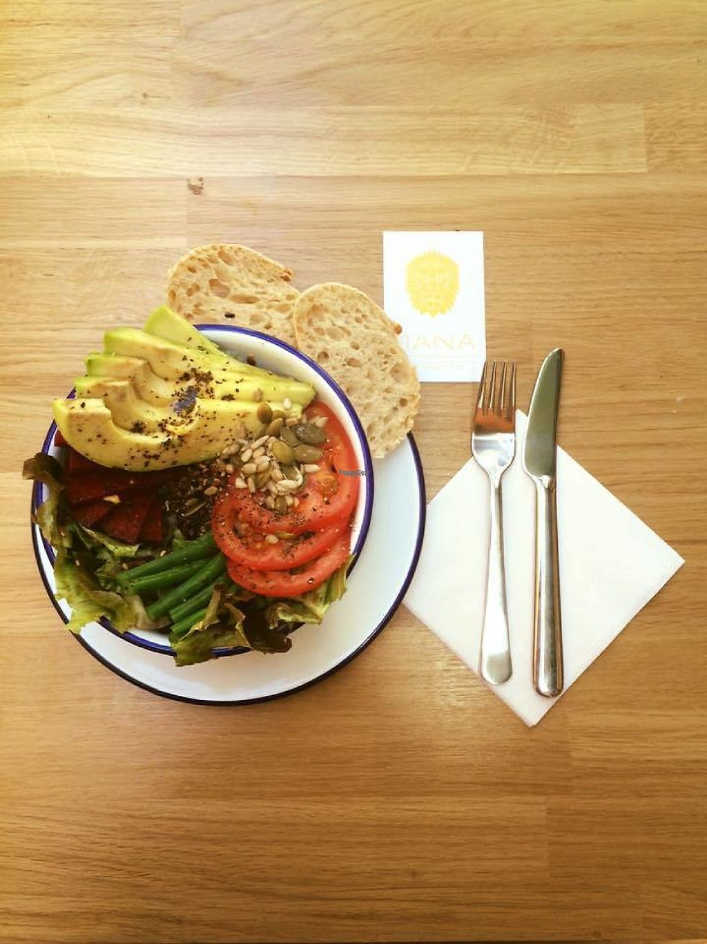 """Photo of Mana Espresso  by <a href=""""/members/profile/community"""">community</a> <br/>Wild rice, green beans, avocado and beetroot salad <br/> February 8, 2017  - <a href='/contact/abuse/image/86875/224342'>Report</a>"""