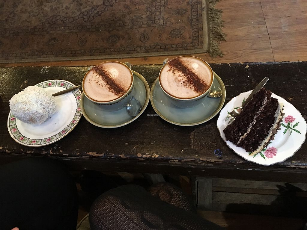 """Photo of The Cran  by <a href=""""/members/profile/katebelcher5"""">katebelcher5</a> <br/>Vegan snowball, hot chocolates, chocolate and salted caramel cake <br/> December 24, 2017  - <a href='/contact/abuse/image/86879/338656'>Report</a>"""