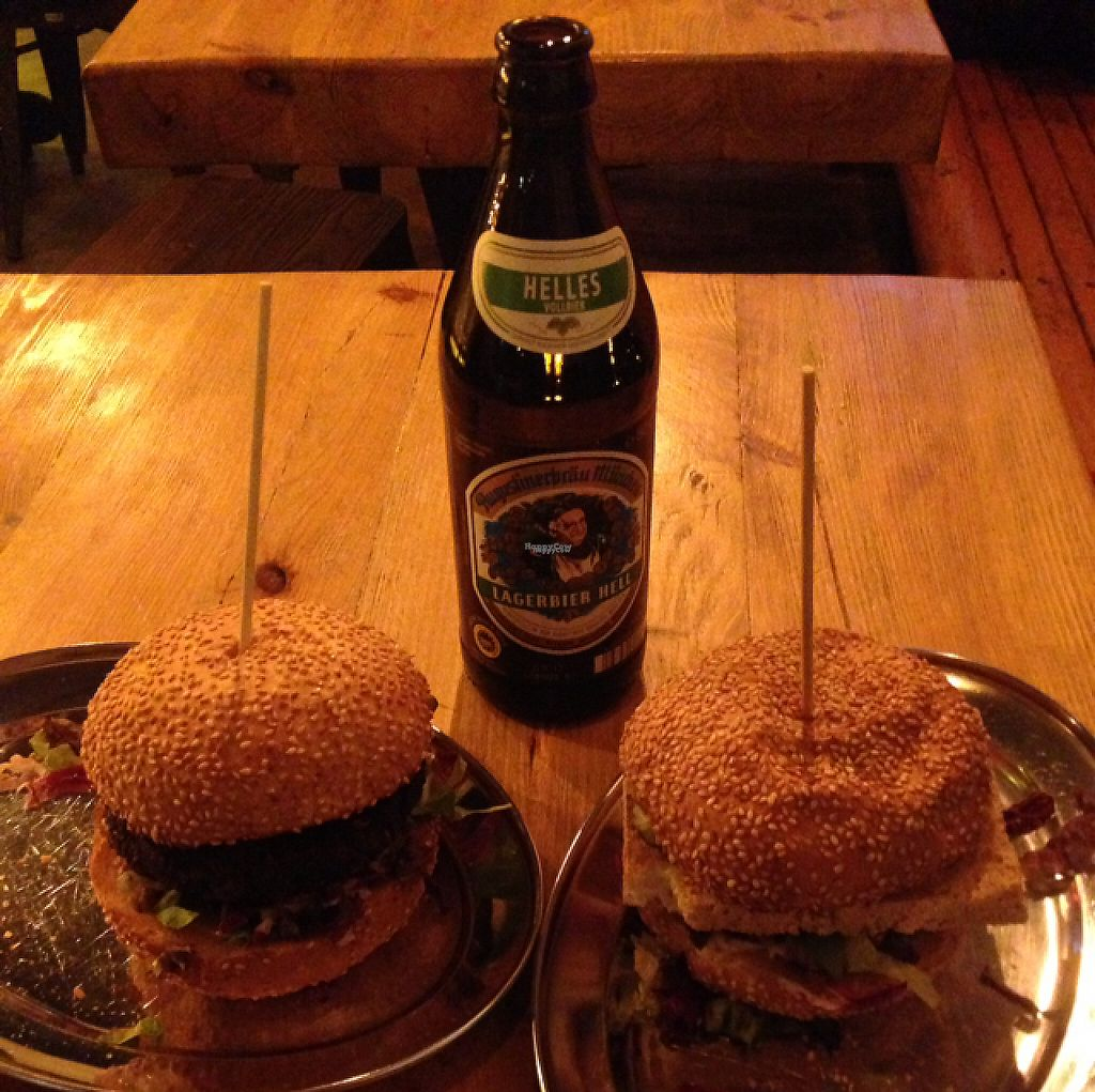 "Photo of KreuzBurger - Rosenthaler  by <a href=""/members/profile/C%C3%A1tiaRodrigues"">CátiaRodrigues</a> <br/>beetroot burger and tofu burger <br/> February 9, 2017  - <a href='/contact/abuse/image/86886/224539'>Report</a>"