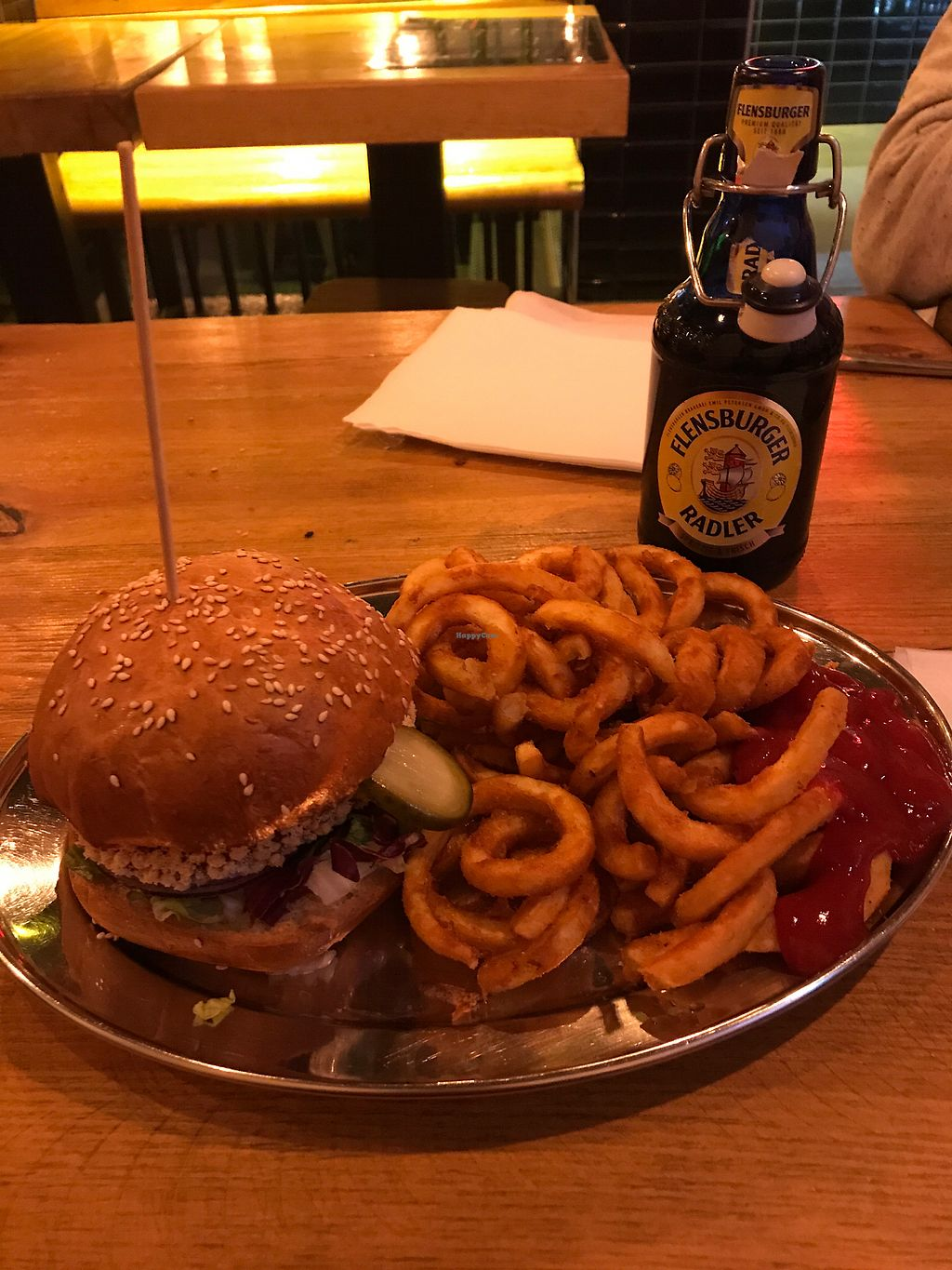 "Photo of KreuzBurger - Rosenthaler  by <a href=""/members/profile/megcanical"">megcanical</a> <br/>Beet burger and curly fries! <br/> March 14, 2018  - <a href='/contact/abuse/image/86886/370690'>Report</a>"