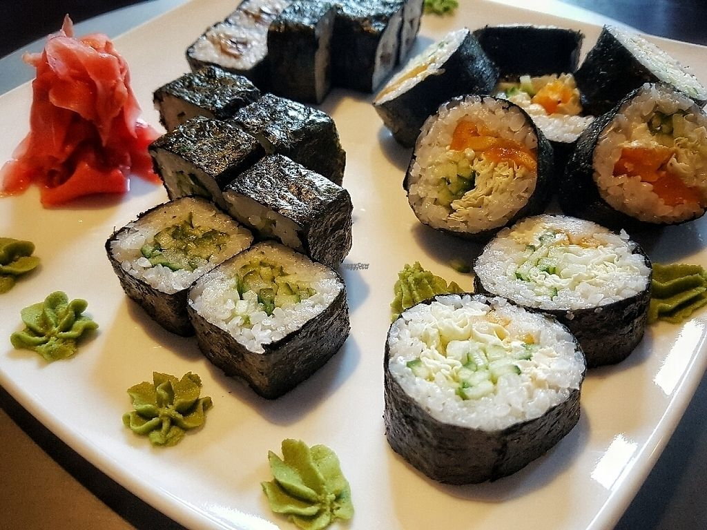 "Photo of ProSushi  by <a href=""/members/profile/PurpleGoat"">PurpleGoat</a> <br/>Vegan cucumber sushi, shitake sushi, and tofu & veg sushi <br/> February 8, 2017  - <a href='/contact/abuse/image/86892/224428'>Report</a>"