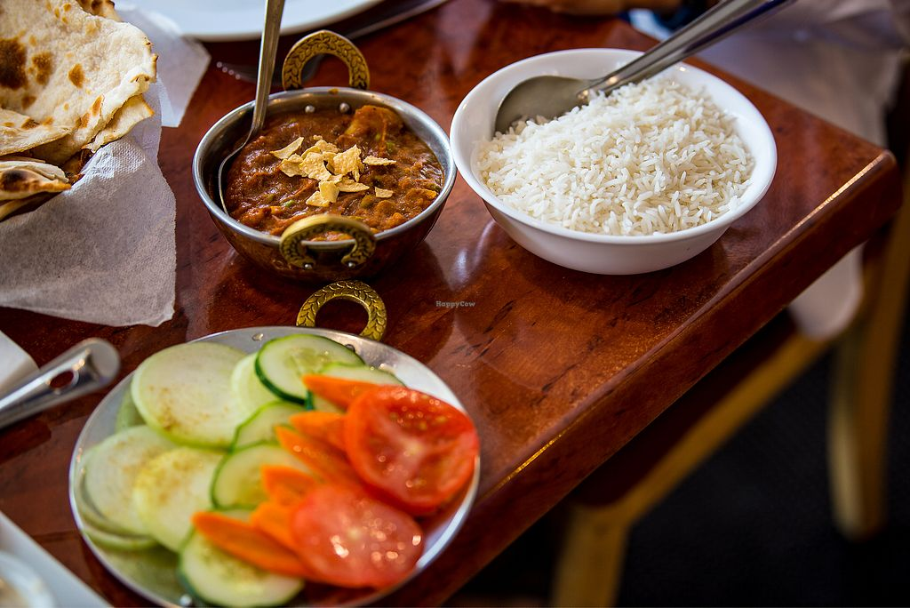 """Photo of Priya Indian Restaurant   by <a href=""""/members/profile/SimoneC"""">SimoneC</a> <br/>Vegetable Jaipuri ($17) + Green Salad ($6) <br/> March 3, 2018  - <a href='/contact/abuse/image/86902/366108'>Report</a>"""