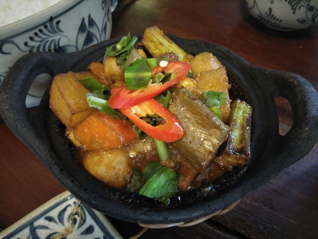 """Photo of Here & Now  by <a href=""""/members/profile/RunEatWorld"""">RunEatWorld</a> <br/>Tofu, mushroom and okra.  <br/> April 24, 2018  - <a href='/contact/abuse/image/86911/390296'>Report</a>"""
