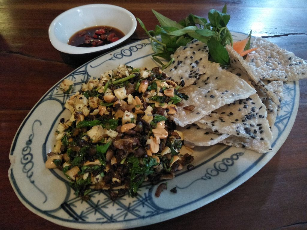 """Photo of Here & Now  by <a href=""""/members/profile/RunEatWorld"""">RunEatWorld</a> <br/>Mushroom and tofu with rice paper <br/> April 24, 2018  - <a href='/contact/abuse/image/86911/390297'>Report</a>"""