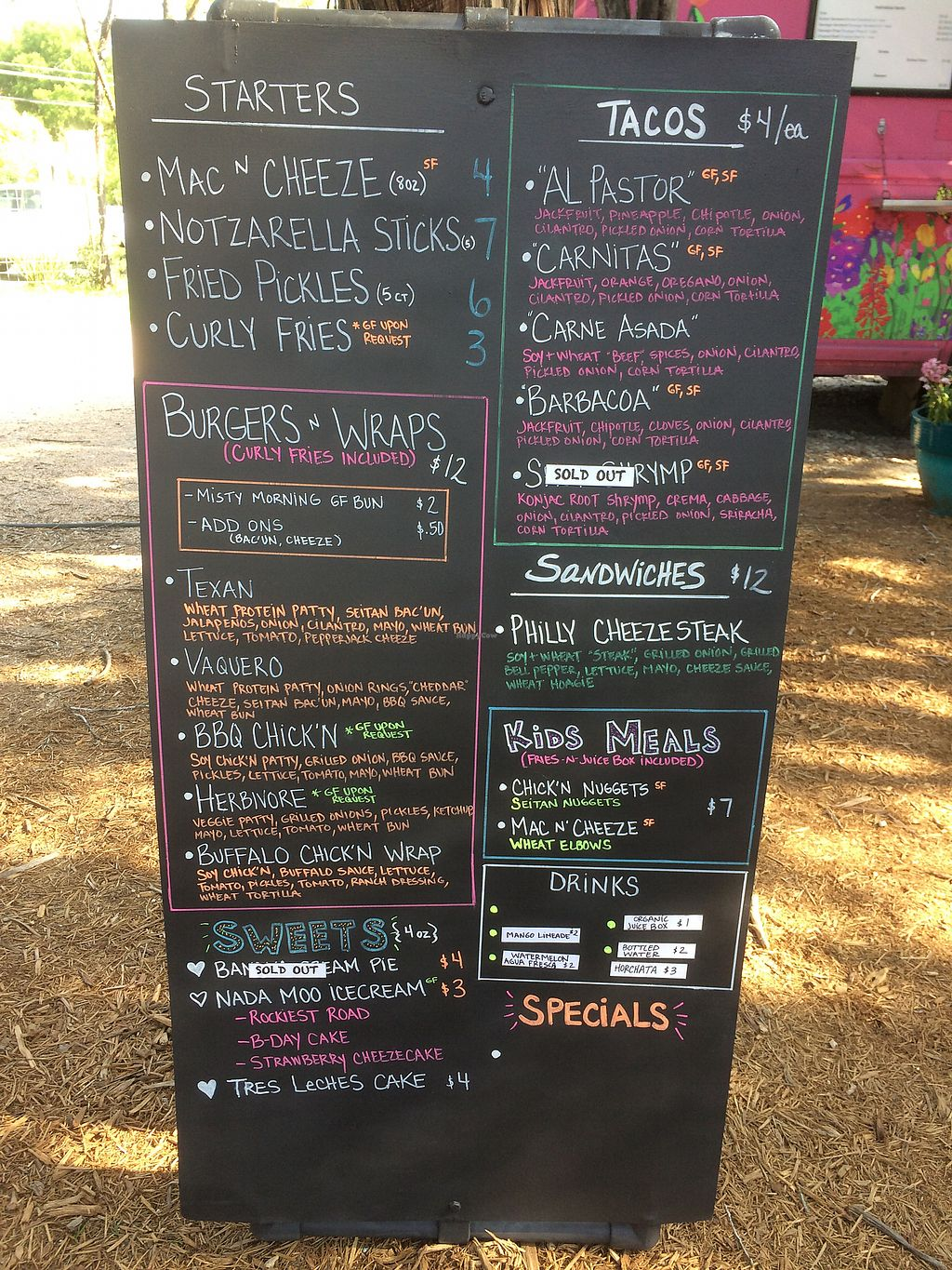 """Photo of Revolution Vegan Kitchen - Food Truck  by <a href=""""/members/profile/AlishaM"""">AlishaM</a> <br/>Menu <br/> May 12, 2018  - <a href='/contact/abuse/image/86943/398905'>Report</a>"""