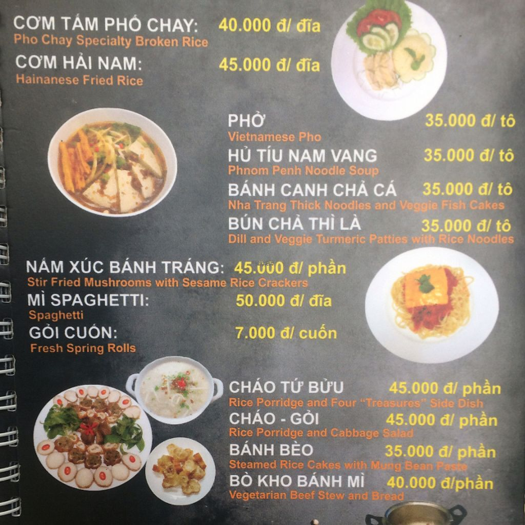 "Photo of CLOSED: Sai Gon Pho Chay  by <a href=""/members/profile/FatTonyBMX"">FatTonyBMX</a> <br/>Sample menu page  <br/> February 11, 2017  - <a href='/contact/abuse/image/86950/225145'>Report</a>"