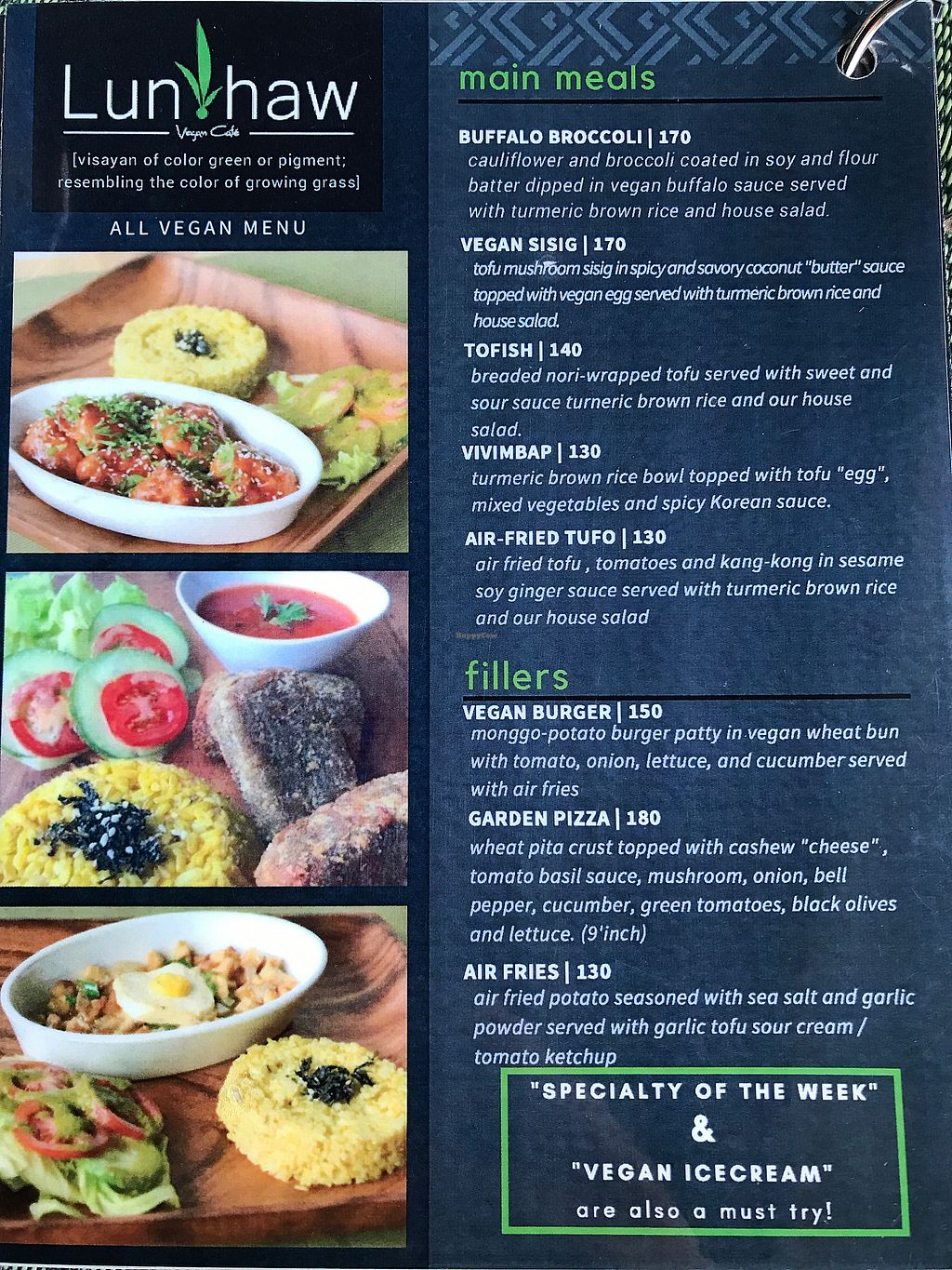 """Photo of Lun-Haw Vegan Cafe  by <a href=""""/members/profile/CharlieDrew"""">CharlieDrew</a> <br/>Menu Page 1  <br/> February 18, 2018  - <a href='/contact/abuse/image/86953/360755'>Report</a>"""