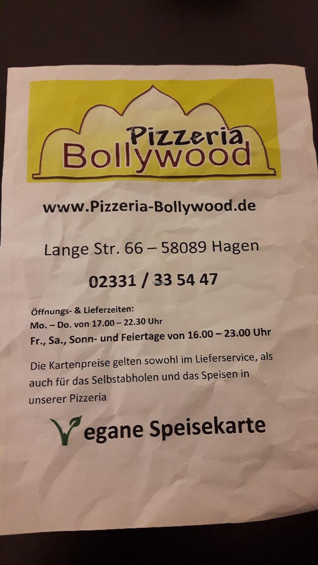 "Photo of Pizzeria Bollywood  by <a href=""/members/profile/saku"">saku</a> <br/>Vegan Menu <br/> February 11, 2017  - <a href='/contact/abuse/image/86969/225330'>Report</a>"