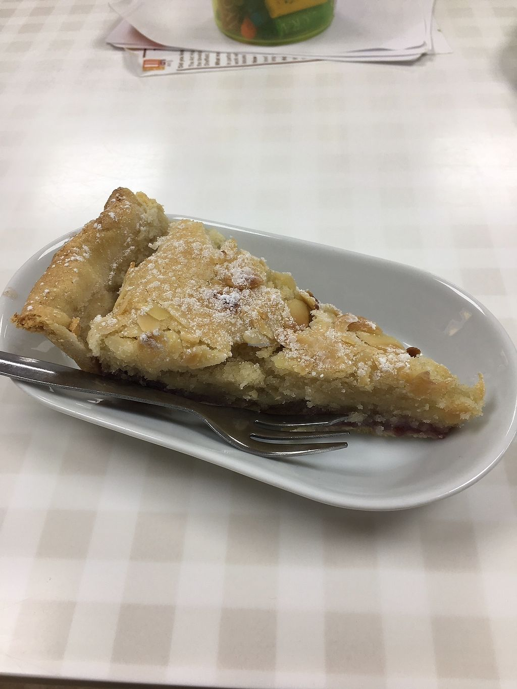"Photo of The Tea Studio  by <a href=""/members/profile/HannahPerry"">HannahPerry</a> <br/>Vegan Bakewell tart ? <br/> October 24, 2017  - <a href='/contact/abuse/image/86976/318545'>Report</a>"