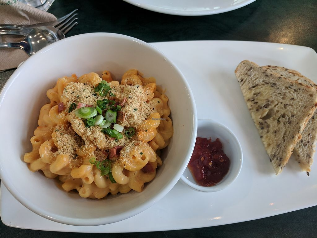 """Photo of Hearts Choices - NorthEast  by <a href=""""/members/profile/lmcc"""">lmcc</a> <br/>Mac and Cheeze with jam and toast <br/> December 9, 2017  - <a href='/contact/abuse/image/86982/333654'>Report</a>"""