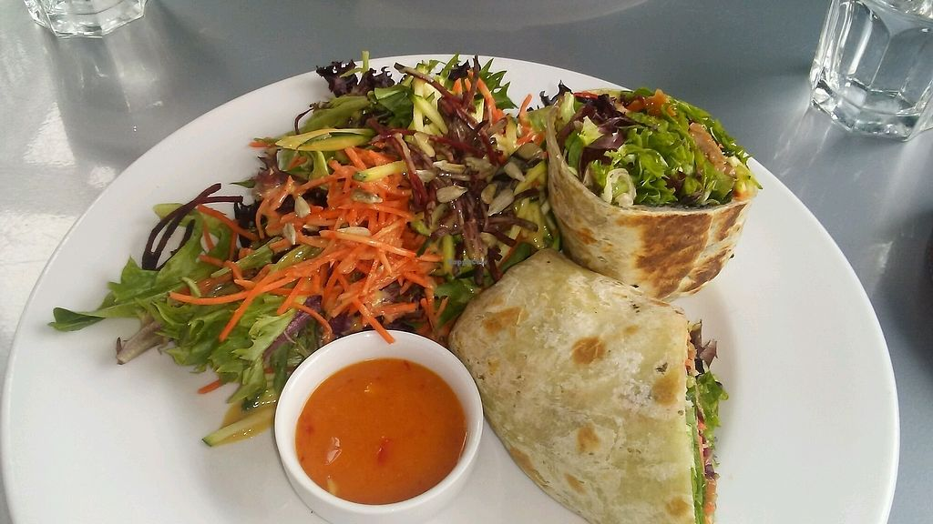 """Photo of Hearts Choices - NorthEast  by <a href=""""/members/profile/stickincarn"""">stickincarn</a> <br/>ginger chicken wrap <br/> February 19, 2018  - <a href='/contact/abuse/image/86982/361085'>Report</a>"""