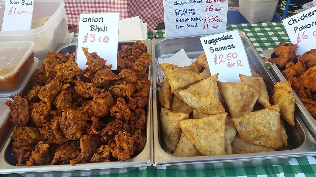 """Photo of Hannah Restaurant  by <a href=""""/members/profile/FaeKah"""">FaeKah</a> <br/>Freshly cooked vegetable samoasas and onion bhajis at a Food Fair in Shropshire 2016 <br/> February 12, 2017  - <a href='/contact/abuse/image/87038/225839'>Report</a>"""