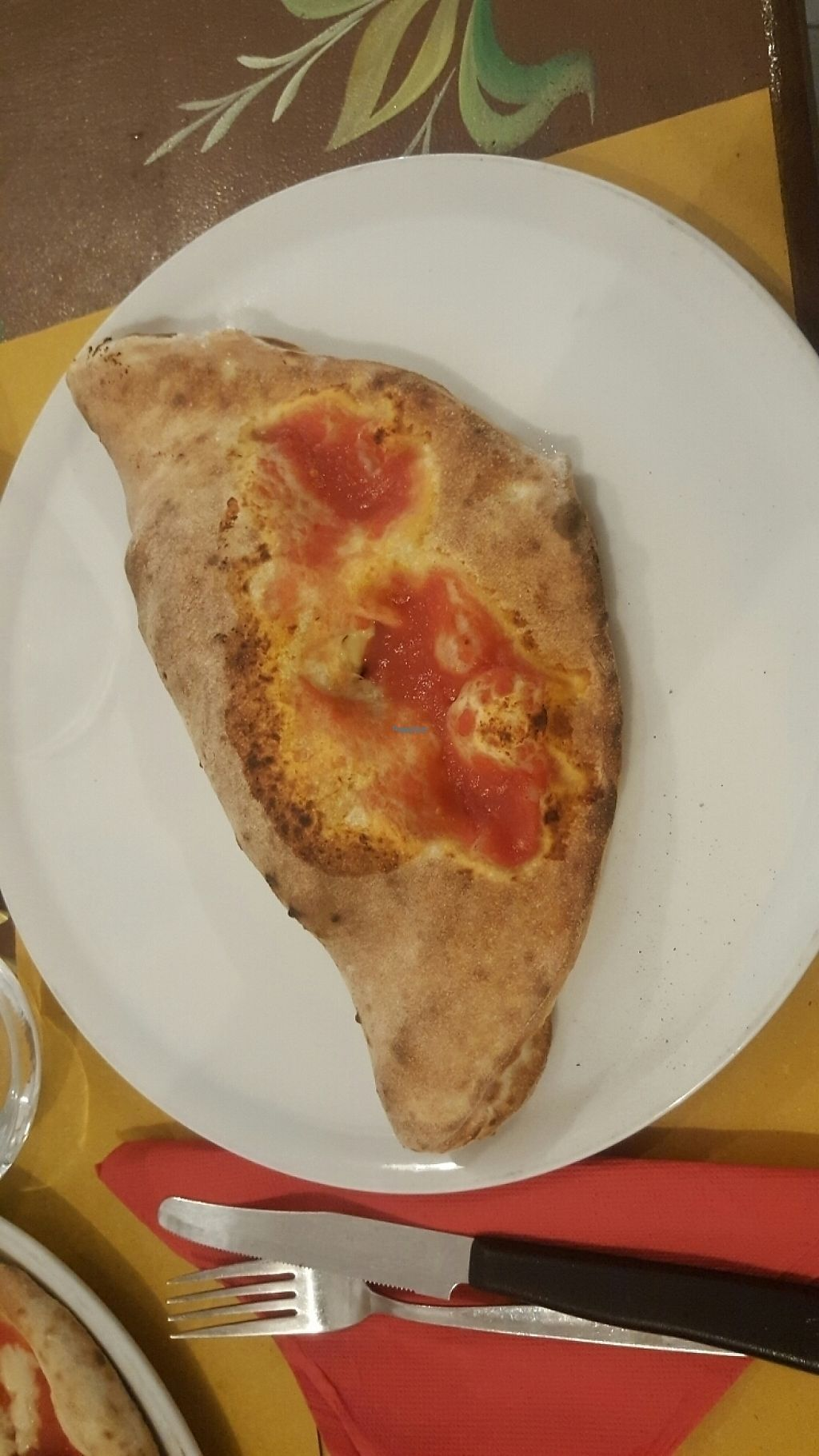 """Photo of Sciue Sciue  by <a href=""""/members/profile/loveforveganfood"""">loveforveganfood</a> <br/>Calzone with vegan cheese and veg <br/> February 14, 2017  - <a href='/contact/abuse/image/87067/226476'>Report</a>"""