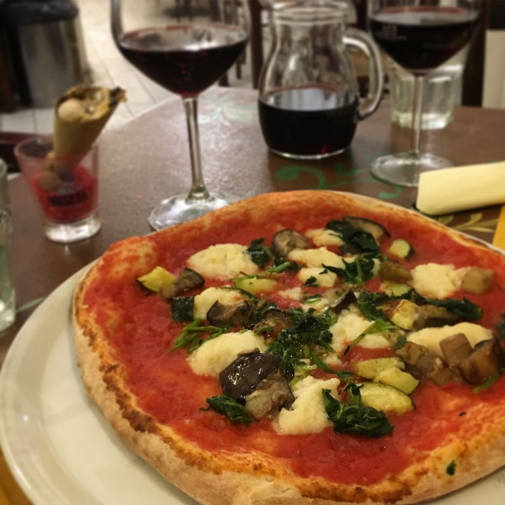 """Photo of Sciue Sciue  by <a href=""""/members/profile/HelenFry"""">HelenFry</a> <br/>Vegan vegetariana pizza <br/> October 2, 2017  - <a href='/contact/abuse/image/87067/310993'>Report</a>"""