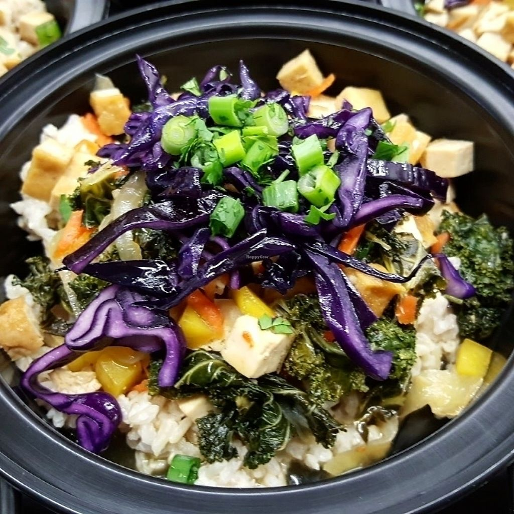 """Photo of Energy Shack Juice Bar  by <a href=""""/members/profile/Janpob"""">Janpob</a> <br/>Lime Mango Tofu Bow with Coconut Rice <br/> May 3, 2017  - <a href='/contact/abuse/image/87105/255127'>Report</a>"""