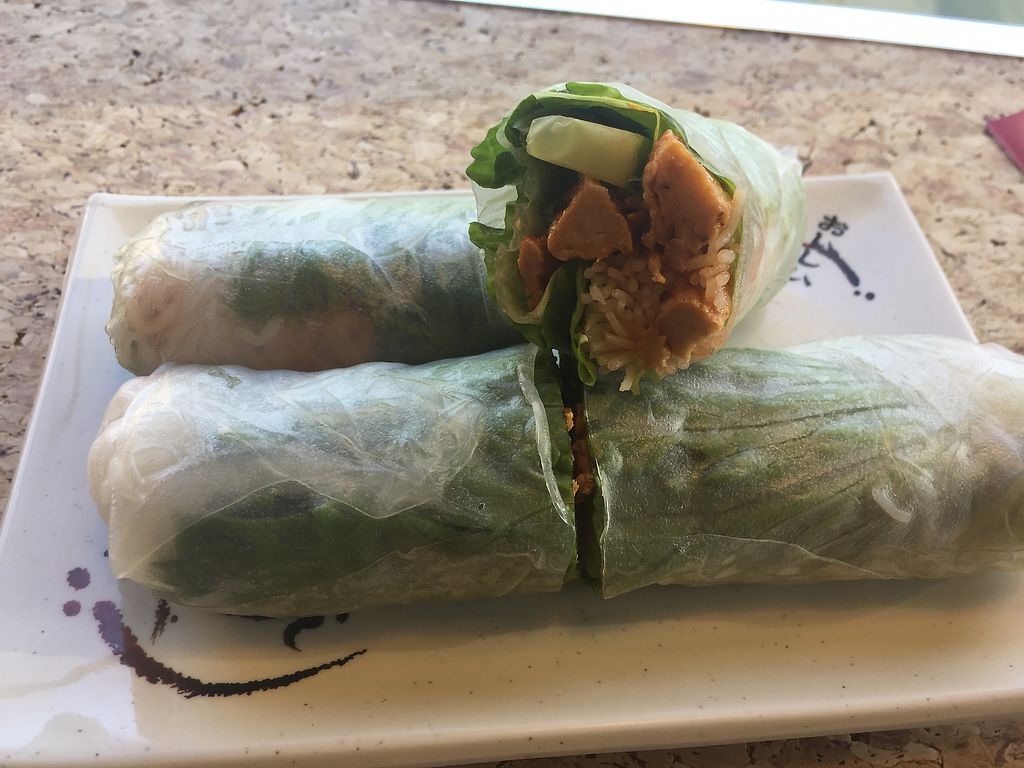 """Photo of V Cafe  by <a href=""""/members/profile/JessicaKlose"""">JessicaKlose</a> <br/>Vegan lemon grass chicken salad roll <br/> November 11, 2017  - <a href='/contact/abuse/image/87134/324284'>Report</a>"""