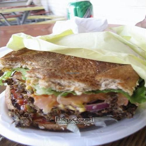 "Photo of Oasis Vegetarian Cafe  by <a href=""/members/profile/Elba"">Elba</a> <br/>Oasis Steak Burger <br/> September 12, 2010  - <a href='/contact/abuse/image/8716/5817'>Report</a>"