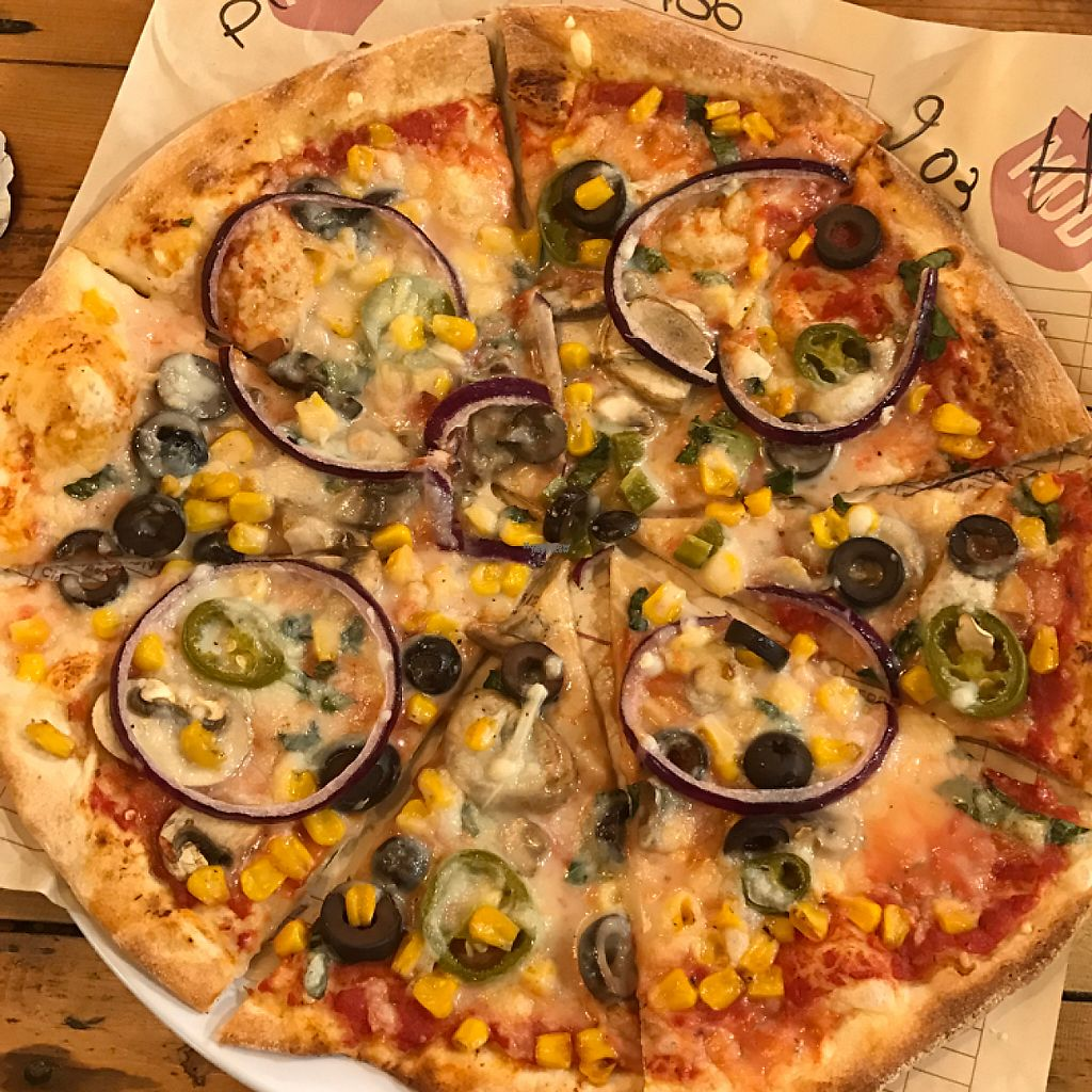 "Photo of Mod Pizza  by <a href=""/members/profile/The%20London%20Vegan"">The London Vegan</a> <br/>vegan pizza!  <br/> March 2, 2017  - <a href='/contact/abuse/image/87202/231922'>Report</a>"