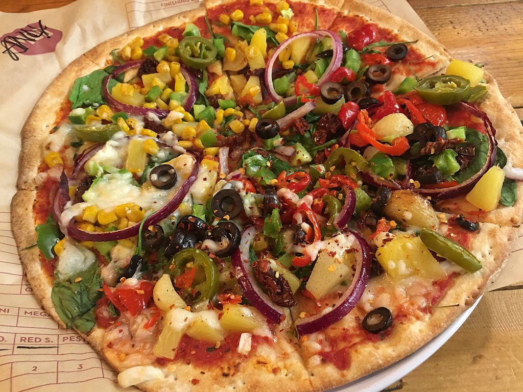 "Photo of Mod Pizza  by <a href=""/members/profile/AnandGoyal"">AnandGoyal</a> <br/>Vegan pizza  <br/> December 1, 2017  - <a href='/contact/abuse/image/87202/331245'>Report</a>"