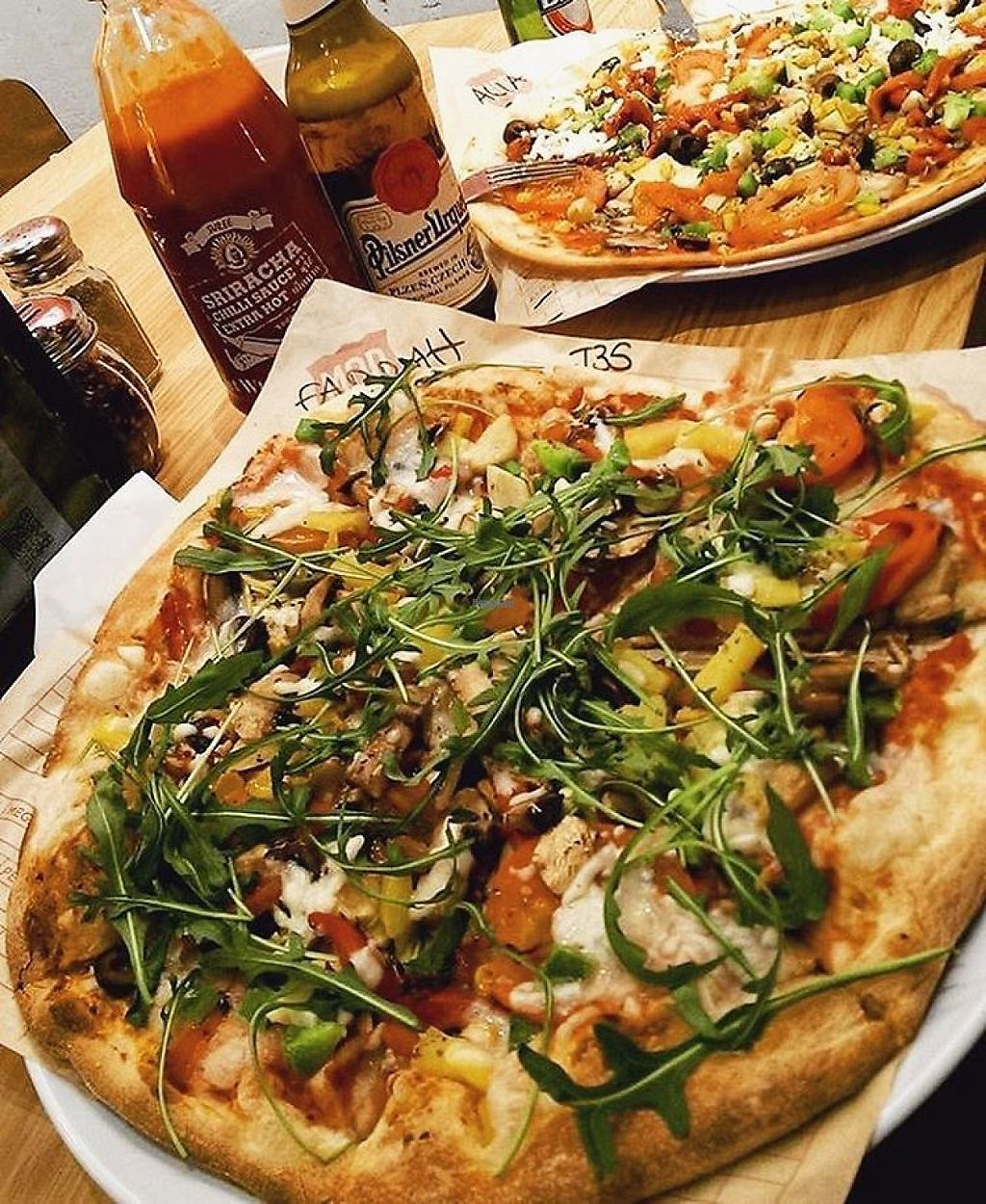 """Photo of Mod Pizza  by <a href=""""/members/profile/NicMOD"""">NicMOD</a> <br/>Build your own vegan pizza, with unlimited toppings and dairy free cheese!  <br/> February 15, 2017  - <a href='/contact/abuse/image/87204/226849'>Report</a>"""