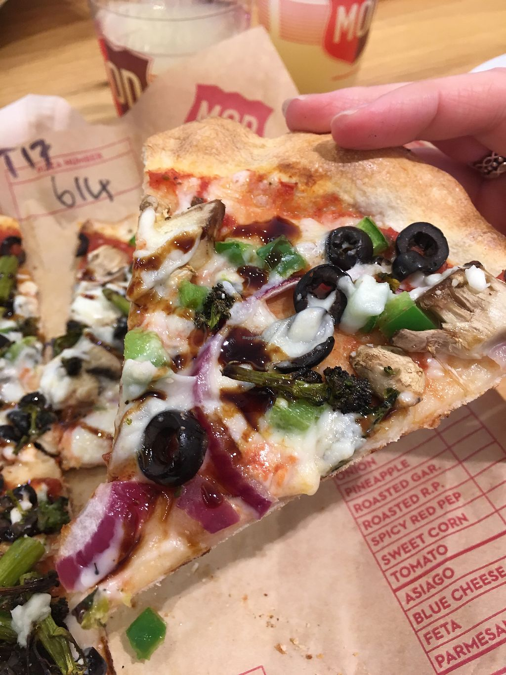 """Photo of Mod Pizza  by <a href=""""/members/profile/SamanthaParkin"""">SamanthaParkin</a> <br/>Vegan pizza  <br/> April 6, 2018  - <a href='/contact/abuse/image/87204/381478'>Report</a>"""