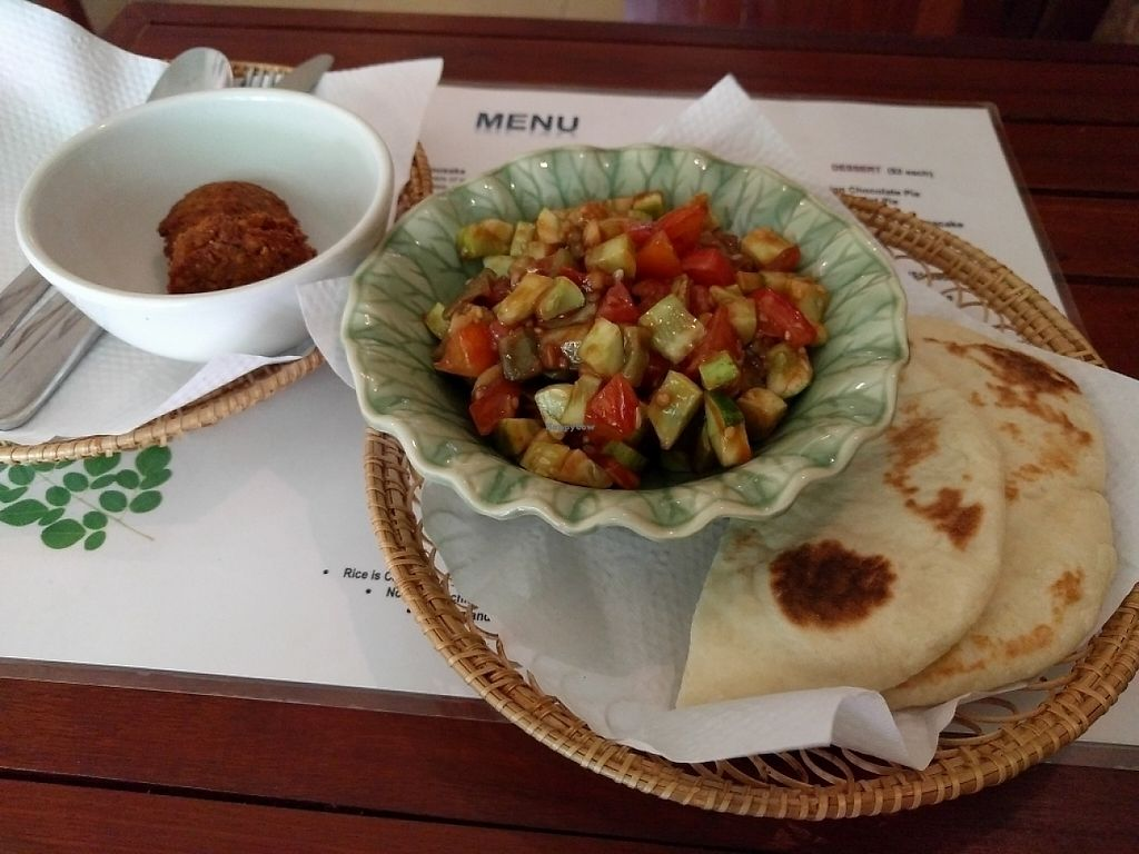 "Photo of Atmosphere  by <a href=""/members/profile/KathyForde"">KathyForde</a> <br/>eggplant salad, pitta and extra falafel <br/> May 12, 2017  - <a href='/contact/abuse/image/87214/258024'>Report</a>"