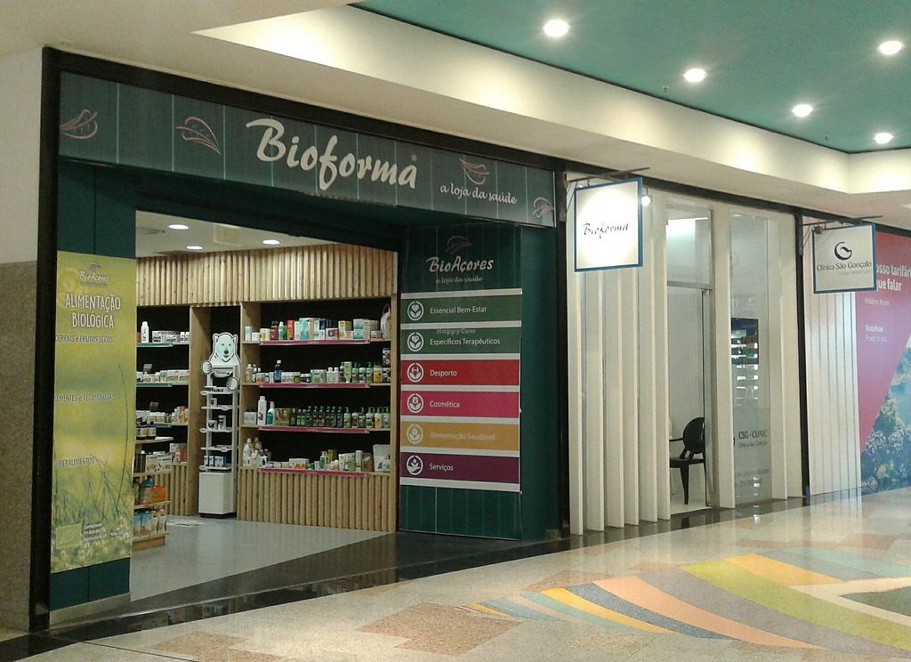 """Photo of Bioforma  by <a href=""""/members/profile/veganmargarida"""">veganmargarida</a> <br/>The entrance of the shop in Parque Atlântico <br/> September 5, 2017  - <a href='/contact/abuse/image/87220/301260'>Report</a>"""