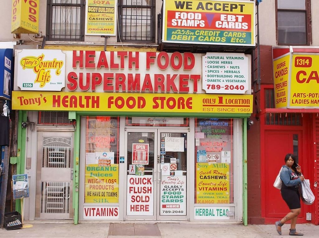 """Photo of Tony's Health Food Supermarket  by <a href=""""/members/profile/community"""">community</a> <br/>Tony's Health Food Supermarket <br/> February 16, 2017  - <a href='/contact/abuse/image/87254/227012'>Report</a>"""