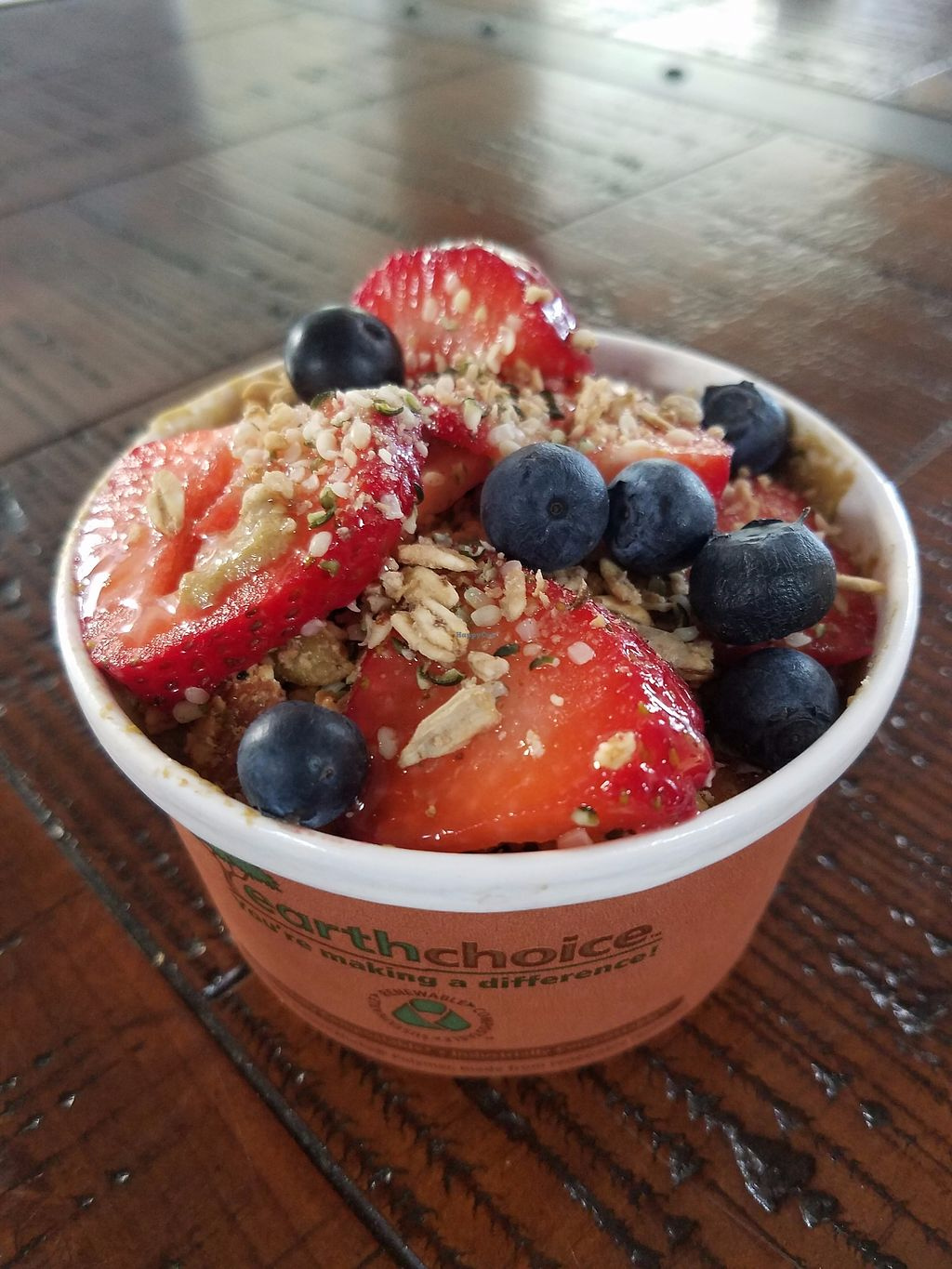 """Photo of Taspen's Cosmic Kitchen  by <a href=""""/members/profile/CosmicKitchen"""">CosmicKitchen</a> <br/>Acai Bowls!! NOM NOM!! Dairy free ice cream packed with fresh fruit and all the fixings! <br/> August 10, 2017  - <a href='/contact/abuse/image/87257/291338'>Report</a>"""