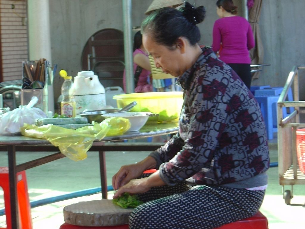 "Photo of Com Chay  by <a href=""/members/profile/mfalgas"">mfalgas</a> <br/>Owner making spring rolls <br/> February 17, 2017  - <a href='/contact/abuse/image/87262/227360'>Report</a>"
