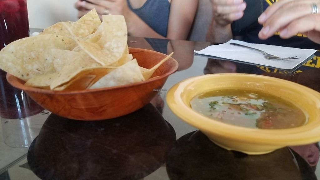 """Photo of La Charrita Mexican Restaurant  by <a href=""""/members/profile/kenvegan"""">kenvegan</a> <br/>chips and salsa <br/> May 22, 2017  - <a href='/contact/abuse/image/87279/261529'>Report</a>"""