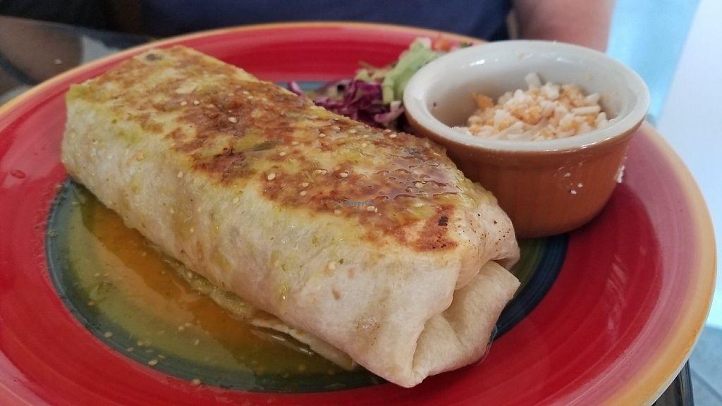 "Photo of La Charrita Mexican Restaurant  by <a href=""/members/profile/kenvegan"">kenvegan</a> <br/>Vegan Burrito <br/> May 22, 2017  - <a href='/contact/abuse/image/87279/261530'>Report</a>"