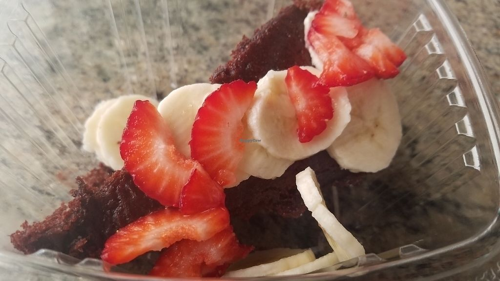 """Photo of La Charrita Mexican Restaurant  by <a href=""""/members/profile/kenvegan"""">kenvegan</a> <br/>vegan chocolate cake <br/> May 22, 2017  - <a href='/contact/abuse/image/87279/261534'>Report</a>"""