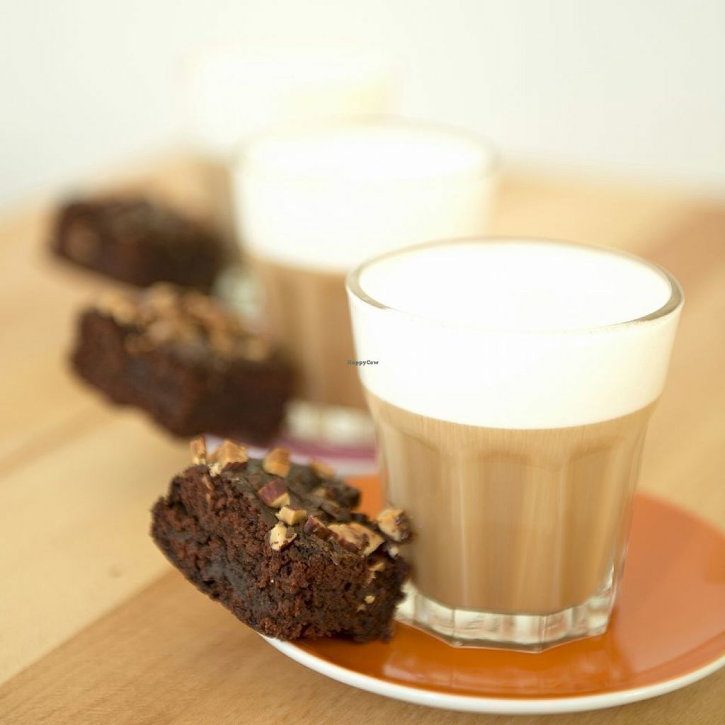 """Photo of Presnica  by <a href=""""/members/profile/info%40presnica.com"""">info@presnica.com</a> <br/>Mmmm morning coffee with soft, decadent, vegan brownie <br/> May 8, 2017  - <a href='/contact/abuse/image/87280/257105'>Report</a>"""