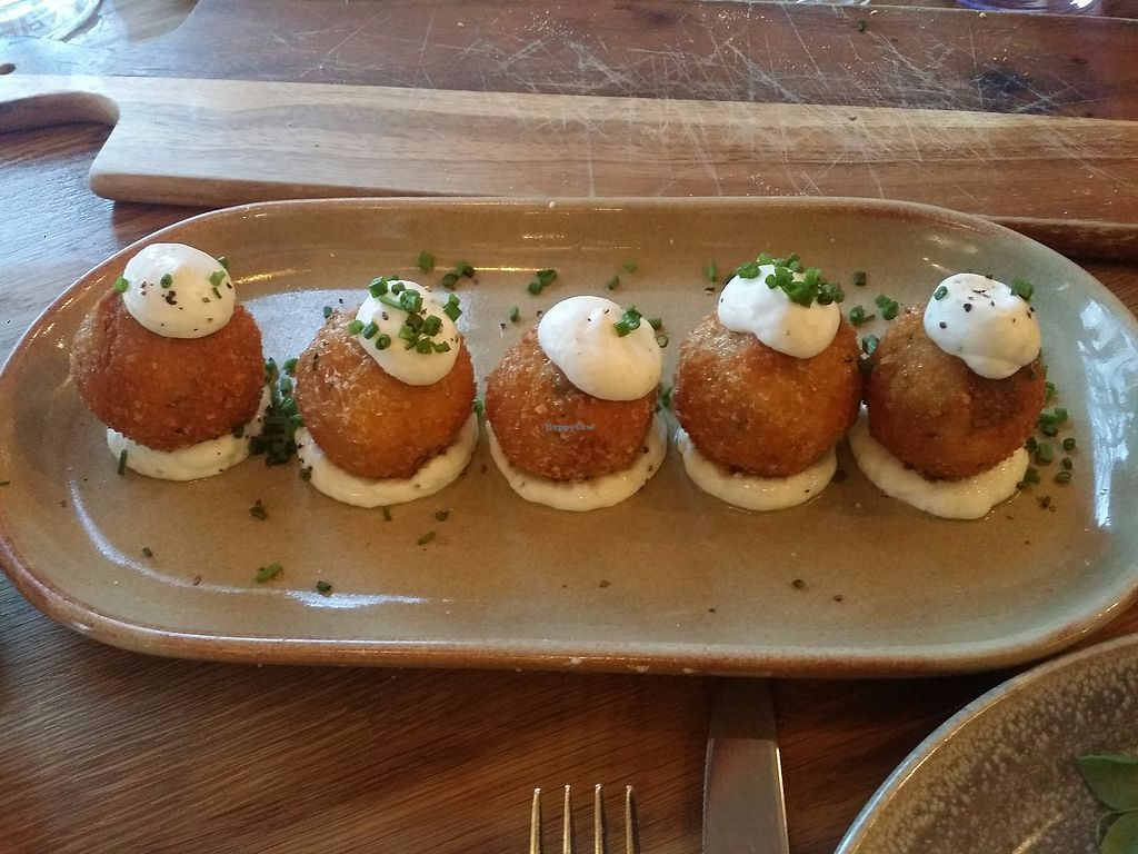 "Photo of Assaggini Mornington  by <a href=""/members/profile/ericacrombie"">ericacrombie</a> <br/>Vegan Arancini of the day - $18  <br/> October 8, 2017  - <a href='/contact/abuse/image/87304/313138'>Report</a>"