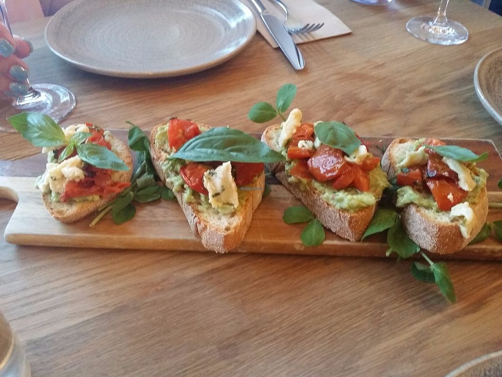 "Photo of Assaggini Mornington  by <a href=""/members/profile/ericacrombie"">ericacrombie</a> <br/>Bruschetta with a herb cream cheese, roast pumpkin, kale - $16 <br/> October 8, 2017  - <a href='/contact/abuse/image/87304/313139'>Report</a>"
