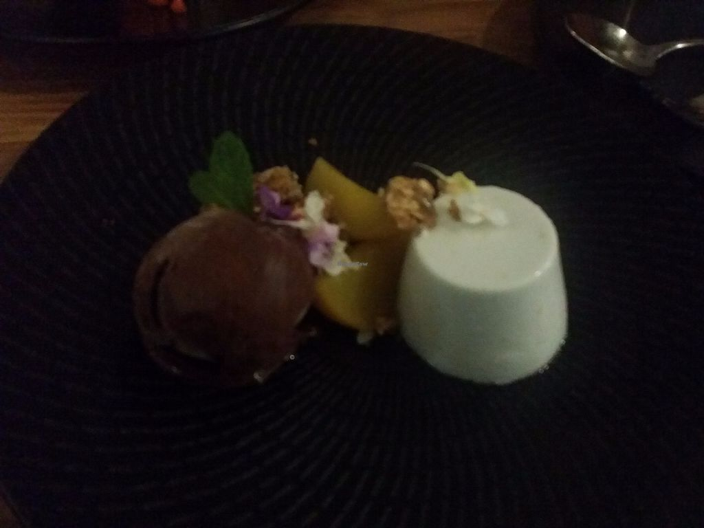 "Photo of Assaggini Mornington  by <a href=""/members/profile/ericacrombie"">ericacrombie</a> <br/>Coconut panna cotta, saffron poached pear, chocolate ice cream - $14 (sorry about the bad lighting) <br/> October 8, 2017  - <a href='/contact/abuse/image/87304/313142'>Report</a>"