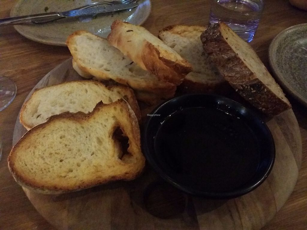 "Photo of Assaggini Mornington  by <a href=""/members/profile/ericacrombie"">ericacrombie</a> <br/>Warm bread, olive oil and balsamic - $10 <br/> October 8, 2017  - <a href='/contact/abuse/image/87304/313143'>Report</a>"